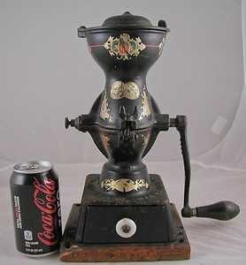 ANTIQUE-COFFEE-MILL-COFFEE-GRINDER-PHILADELPHIA-USA-ENTERPRISE-GRINDS-TO-POWDER