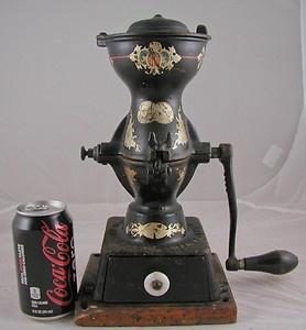 ANTIQUE-COFFEE-MILL-COFFEE-GRINDER-PHILADELPHIA-USA-ENTERPRISE-GRINDS-TO-POWDER