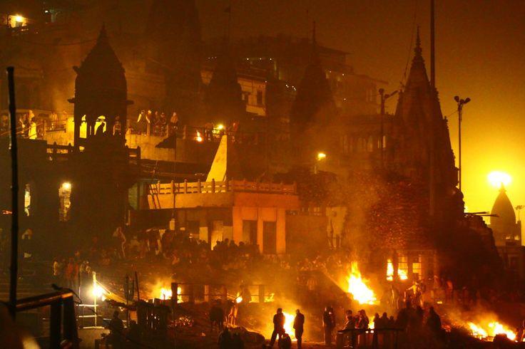 Burning Bodies in Varanasi, India