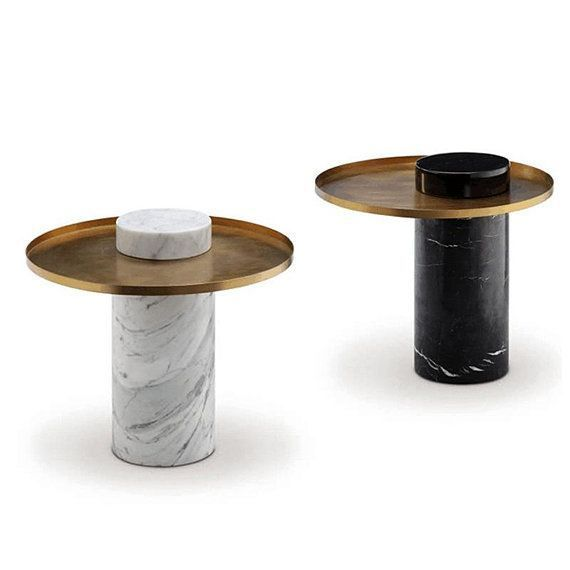 Column Round White Marble Coffee Table Round Coffee Table