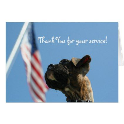 Veterans Day Boxer puppy greeting card - veterans day us patriot holiday usa vets