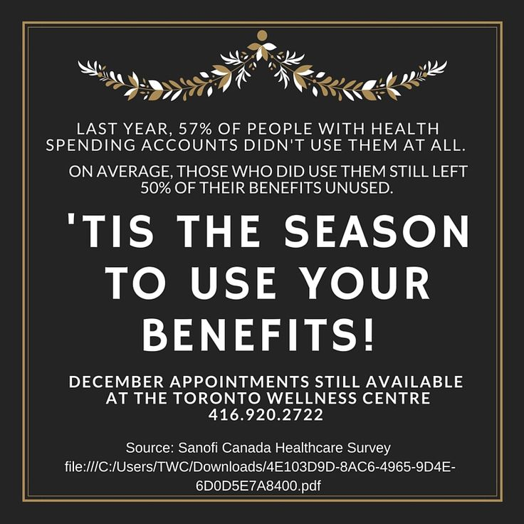 It's December, time is running out to use your 2015 Health Insurance Benefits! Don't let them go to waste, schedule an appointment with one of our wellness experts today! http://torontowellnesscentre.ca
