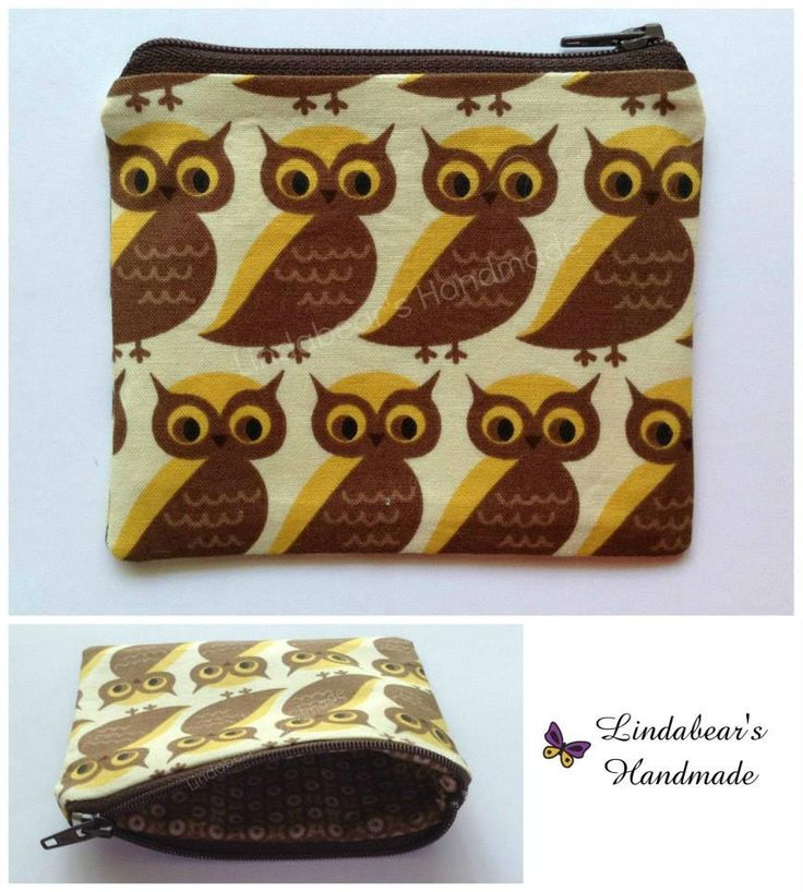 Made by Lindabears Handmade Purse – Retro Brown Owls