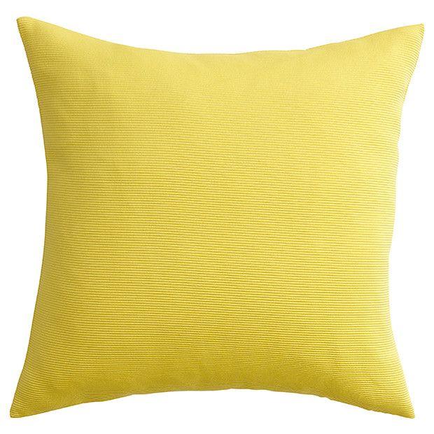 Plain Rib Cushion 43 x 43cm - Yellow | Target Australia