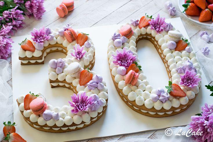 torta compleanno, torta cerimonie, torta a forma di numero