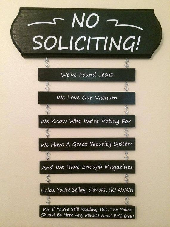 No Soliciting Funny Wood Sign Welcome Sign Front Entry