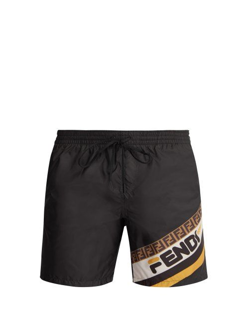 0b2bd59e9b FENDI FENDI - MANIA LOGO PRINT SWIM SHORTS - MENS - BLACK. #fendi #cloth