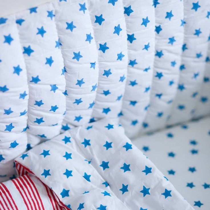 Blue Star Cot Bed Bumper