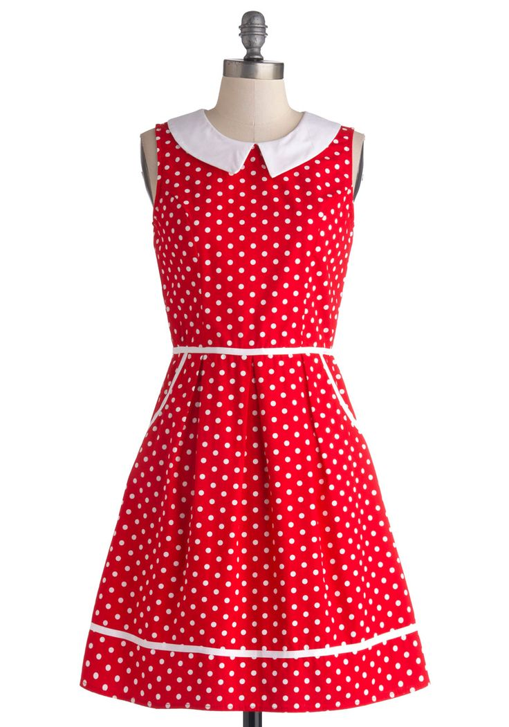 GET IN MY CLOSET ALREADY!!!  All Eyes on Unique Dress in Dotty | Mod Retro Vintage Dresses | ModCloth.com