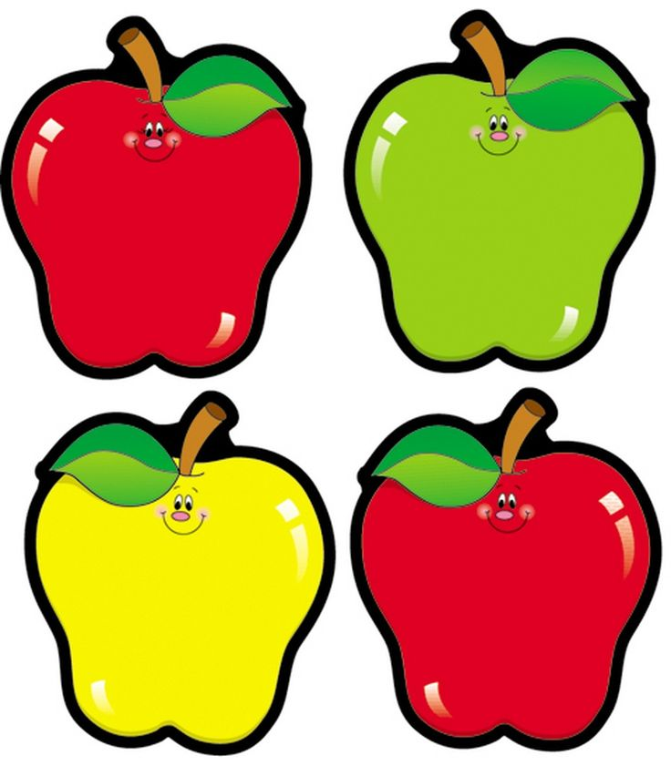 Apple Cut-Outs from Carson Dellosa are great for matching activities, nametags, classroom labels, or games!