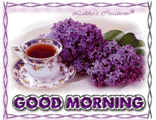 Lilacs and Morning Coffee