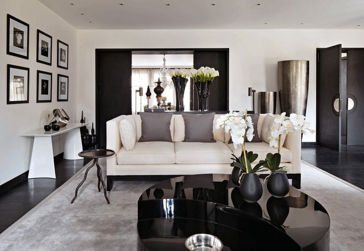 Dark wood floor, grey, and cream! this is exactly what i am looking in taste and elegance