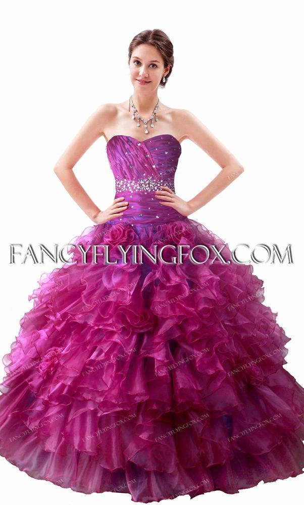 fancyflyingfox.com Offers High Quality Luxurious Fuchsia Ruffles Quinceanera Dress 2016,Priced At Only US$265.00 (Free Shipping)