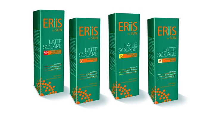 ERiiS for Sun - Protection Milks. A complete line of sun protection products dermatologically tested and suitable for the whole family. Effective protection against UVA, UVB and IR rays. Extra delicate formula, Allergens free and Parabens free , light texture rapidly absorbed and water resistant.