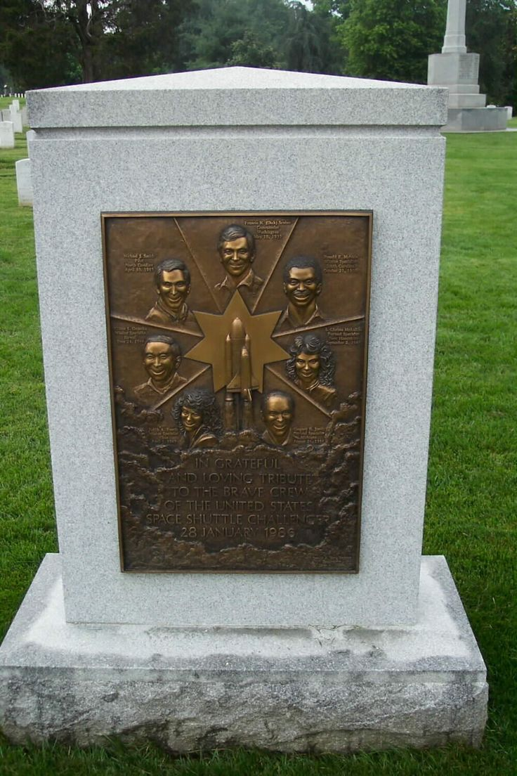Shuttle Challenger Memorial- Arlington National Cemetery