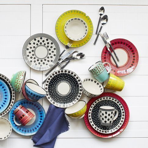 west elm Potteru0027s Workshop Tableware u2013 Red | west elm  sc 1 st  Pinterest & 7 best eclectic dinnerware images on Pinterest | Dish sets Dishes ...