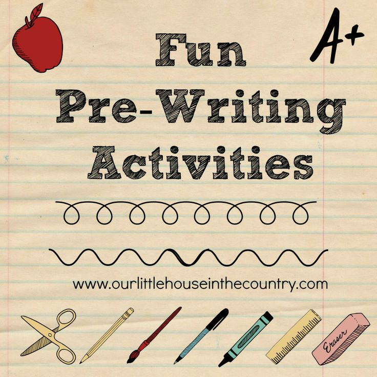 Fun Pre Writing Activities - Fun Pre Writing Activities – Early Literacy & Fine Motor Skills Development | Our little house in the country #finemotorskills #prewriting #earlyliteracy