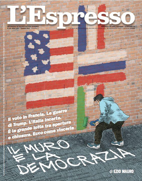 La copertina dell'Espresso in edicola da domenica 7 maggio