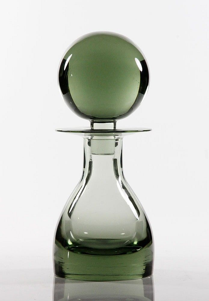 "20th century, Swedish/Scandinavian decanter with large stopper, 14 3/4""h x 6""w"