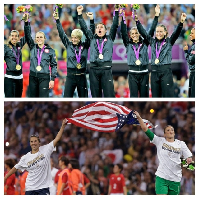 "Olympic Gold Medalists (three times in a row) USA Soccer Team!!!<3 ""We Had HOPE"""