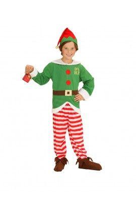 disfraz de elfo ayudante de santa claus para nio