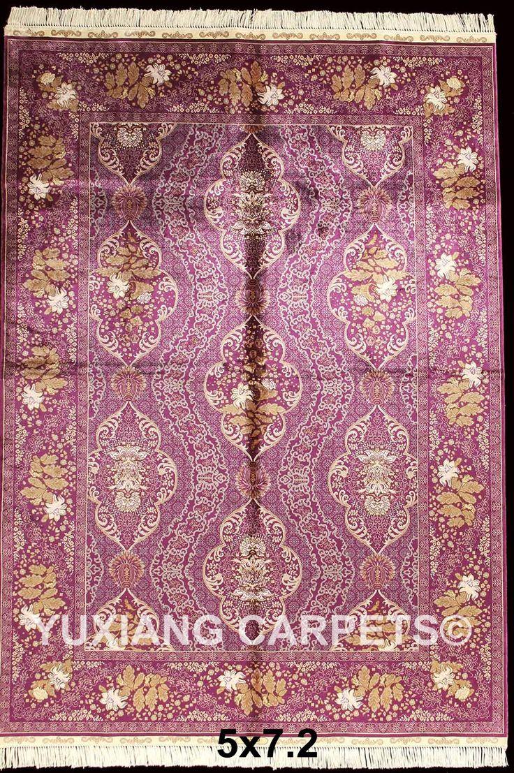 handmade silk carpet rug #persiancarpet #persianr…