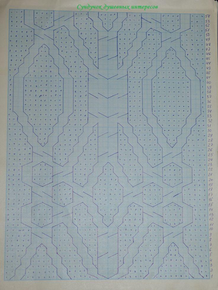 схема узора араны для вязаной детской шапки спицами