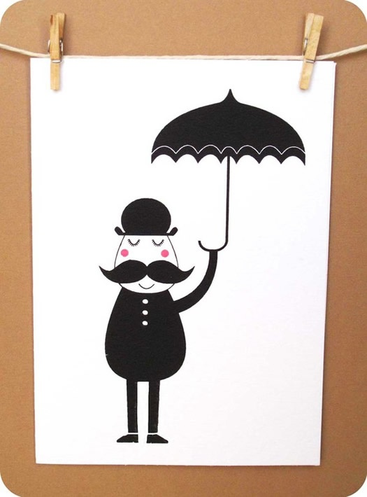 Mustache + Umbrella = Mollie