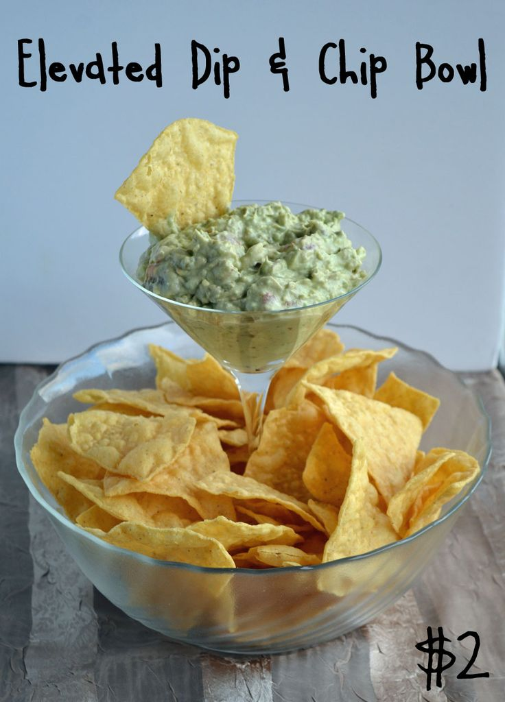 DIY Elevated Dip & Chip Bowl made for less than $2