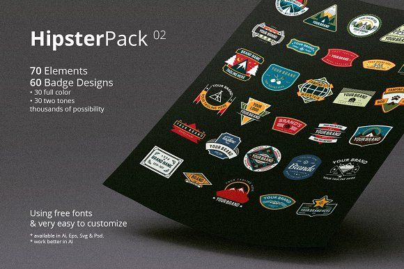 Hipster Pack 02 by ihsankl on @creativemarket