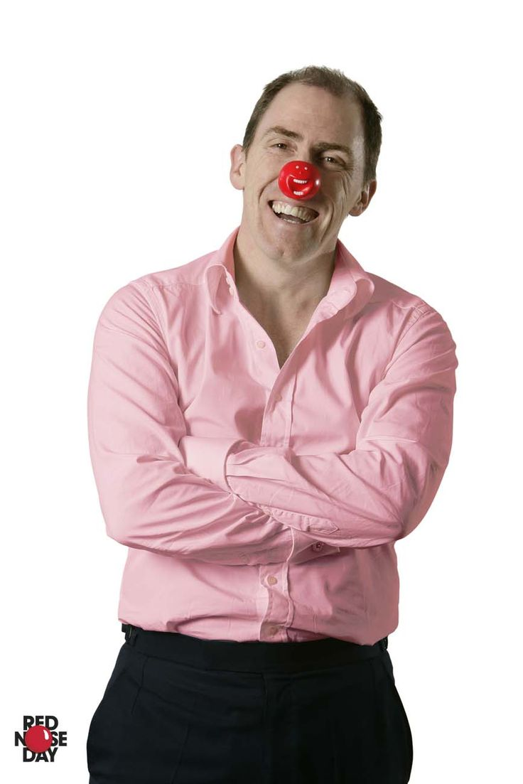 The British public were able choose from not 1, not 2, but 3 Red Noses in 2009! Here's Rob Brydon fashioning his Nose.