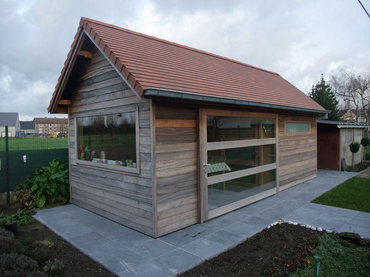Tuinhuis padouk tuinhuis met dakpan tuinhuisjes vermeire ontwerpen voor uw tuin pinterest - Veranda met dakpan ...