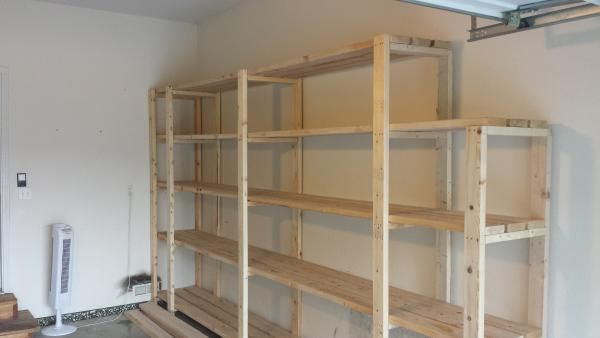 Garage Shelving - Some minor mods to Ana's great basic plan | Do It Yourself Home Projects from Ana White