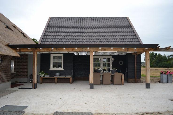Renovatie van woonboerderij - eikenhouten veranda