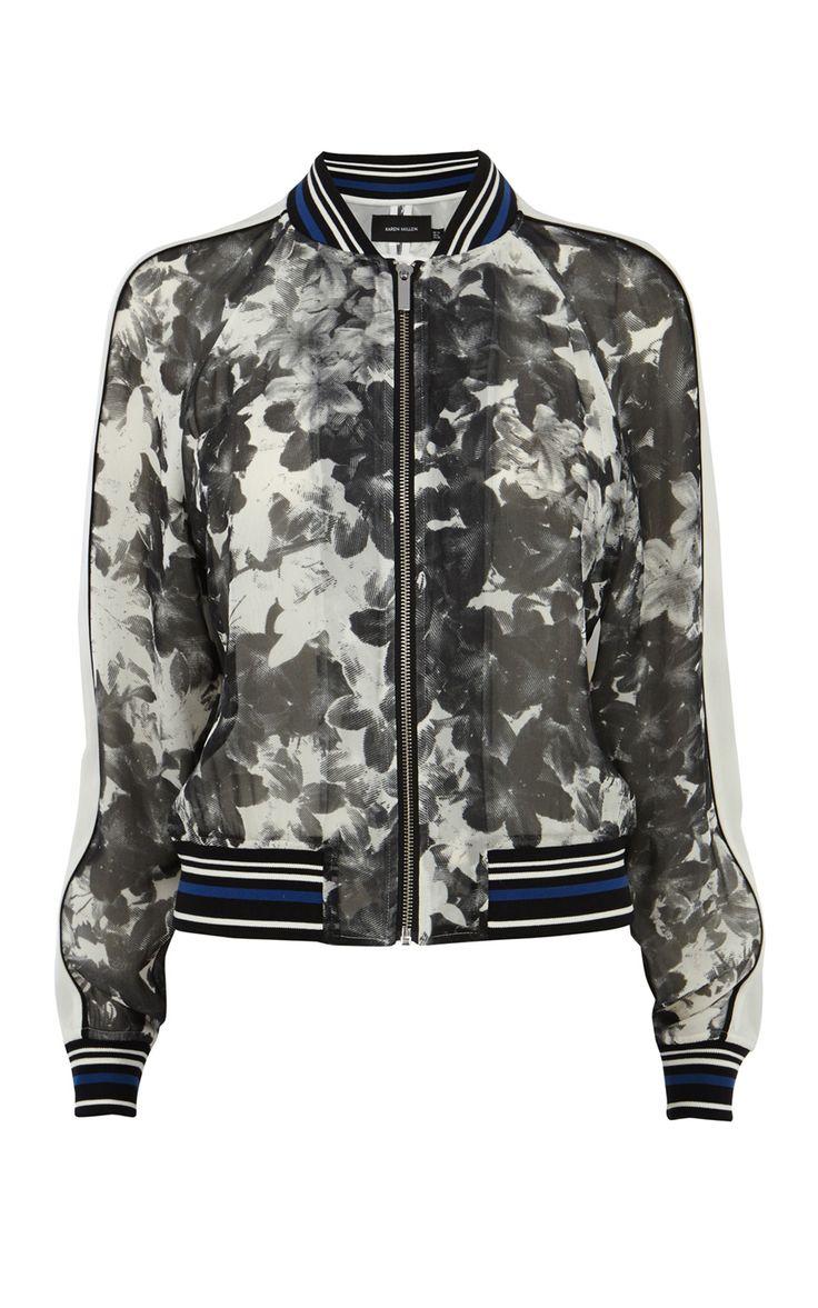 Floral bomber jacket   Luxury Women's zz_criteo   Karen Millen