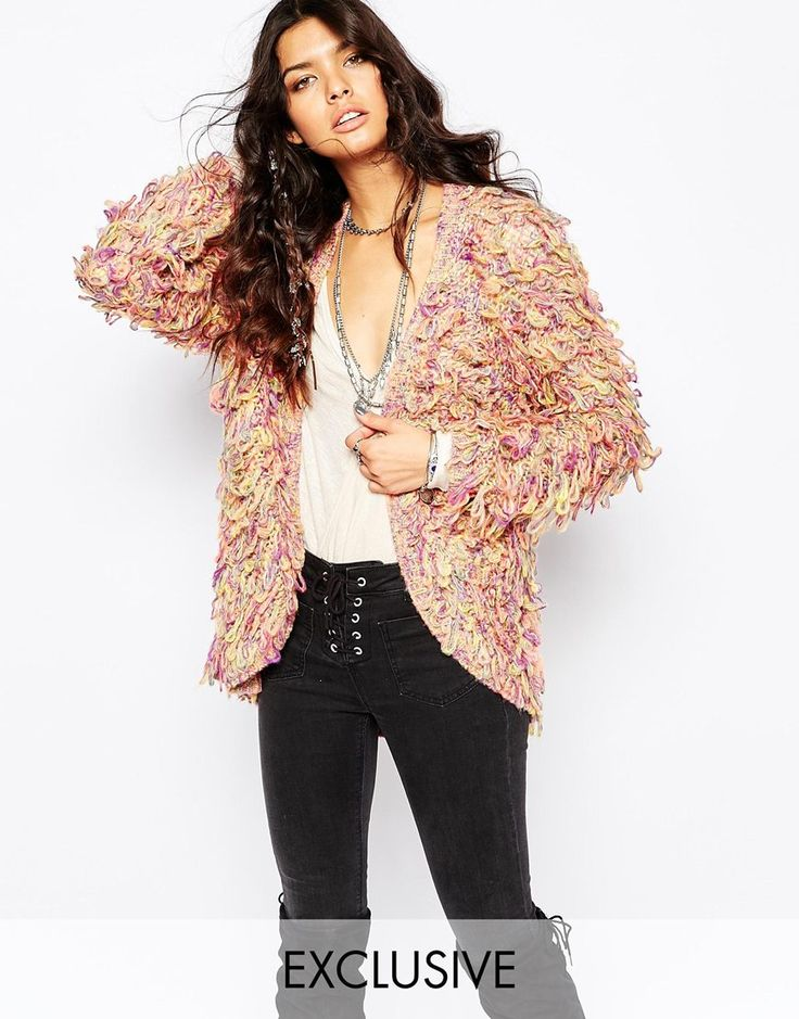 Sunshine Soul Boho Shaggy Cardigan With Tassels
