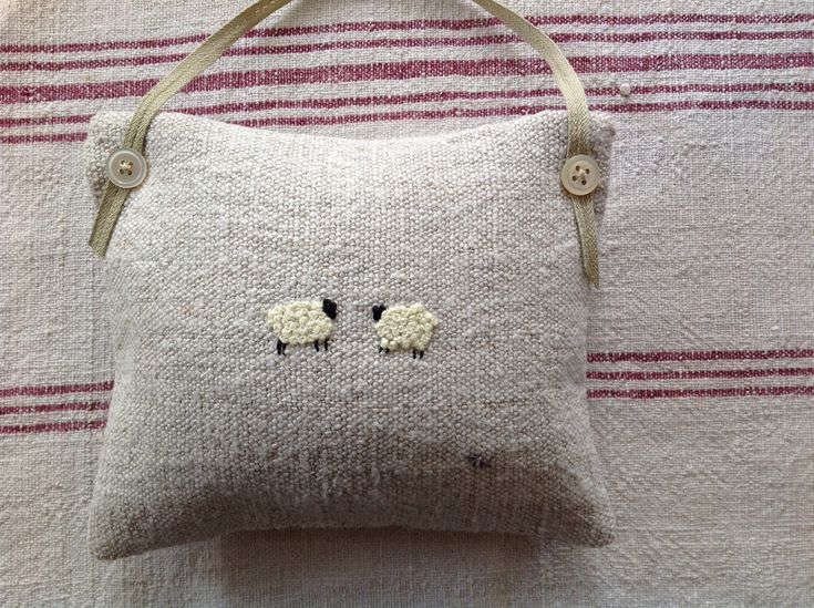 Sheep embroidery lavender bags by T&Linen