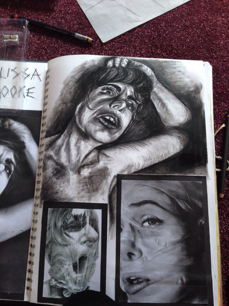 Melissa Cooke inspired charcoal graphite monotone art