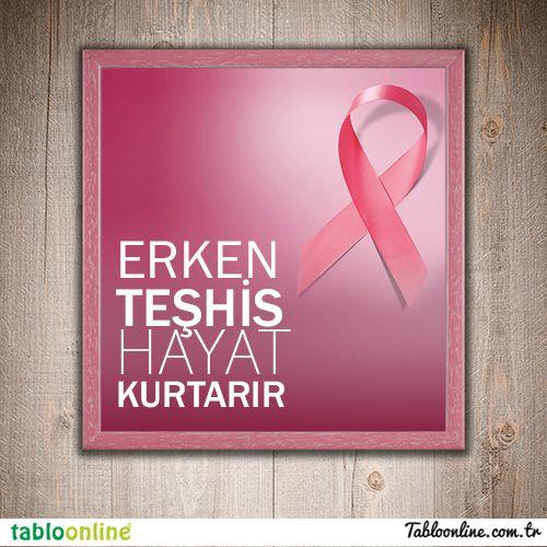 1 - 31 Ekim / Meme Kanseri Bilinçlendirme Ayı. Meme kanserine karşı en iyi koruyucu yöntem erken teşhistir. Kendinizi ihmal etmeyin...  #Tabloonline #MemeKanseri #Sağlık #ErkenTeşhis #Ekim #Sanat