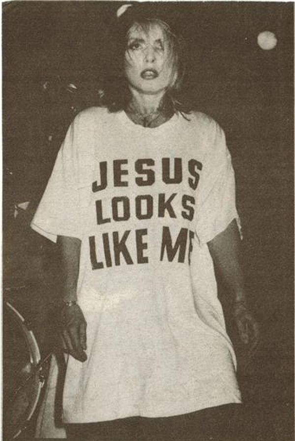 Blondie Debbie Harry 'Jesus looks like me' T-shirt