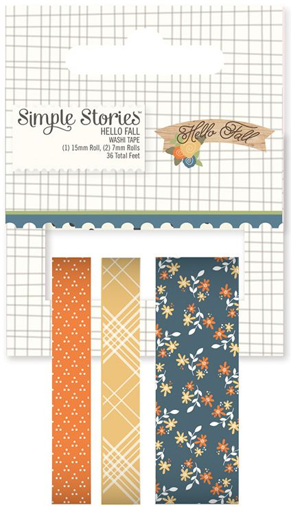 Simple Stories   Hello Fall Collection   Washi Tape