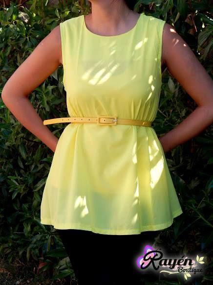 Blusa Amarilla (Incluye Cinturón) Talla M - L PRECIO: $ 5.000 Síguenos en www.facebook.com/RayenBoutiique