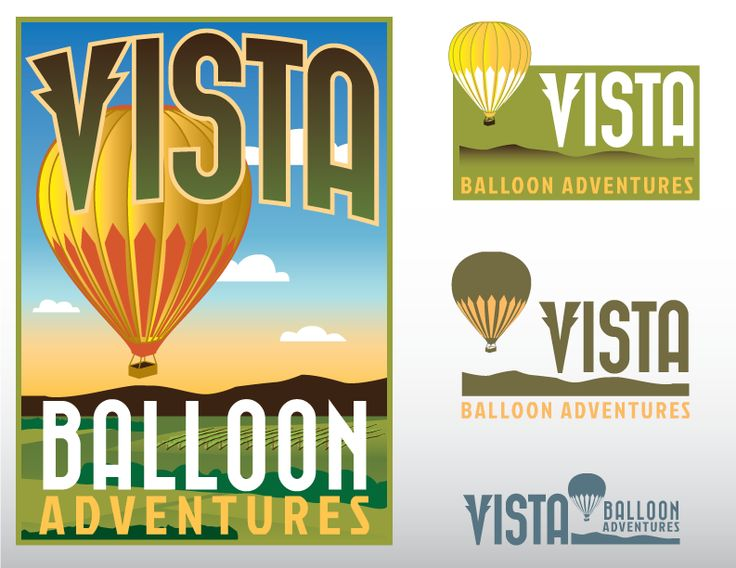Logo for a hot air balloon company in Oregon winecountry by LJK