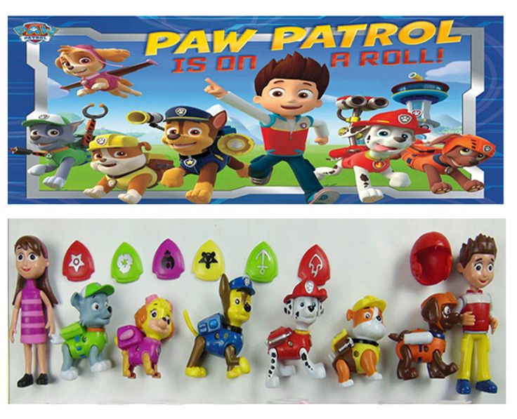 New Nickelodeon Paw Patrol Ryder and 6 Dogs Action Figures Toys Playset Dolls | eBay