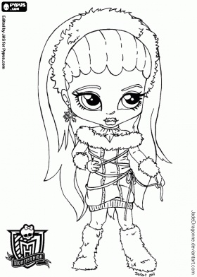 baby monster high coloring pages coloring pages - Monster High Chibi Coloring Pages