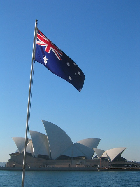 """Aussie Icon: Sydney Opera House, Australia. July 2005"" by Flickr user kenzodiazepine"