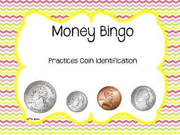 This fun money bingo game is perfect for students learning to identify the appearance and value of coins! The coins in this game are pennies, nickels, dimes and quarters. This activity could easily be used in small group instruction, as a supplement to your