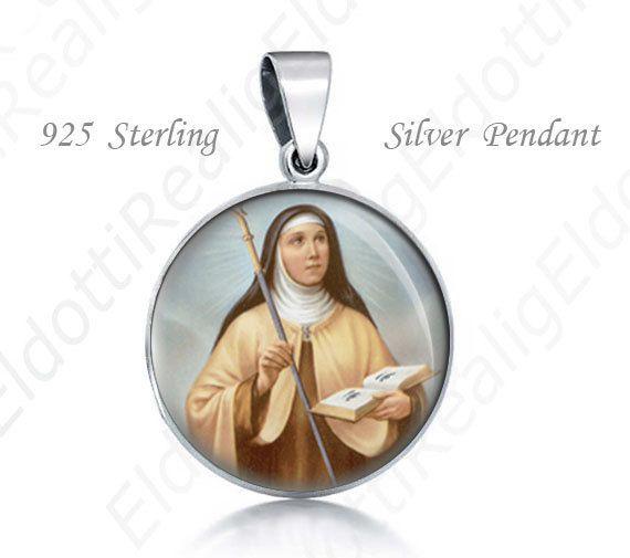 St Odilia Catholic 925 Sterling Silver Medal Round by ElDotti