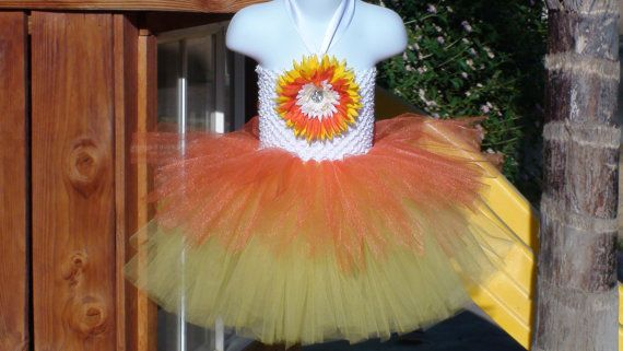 Girl tutu dress/halloween tutu dress/fall tutu dress/costume tutu dress/candy corn tutu dress/photo prop on Etsy, $30.00