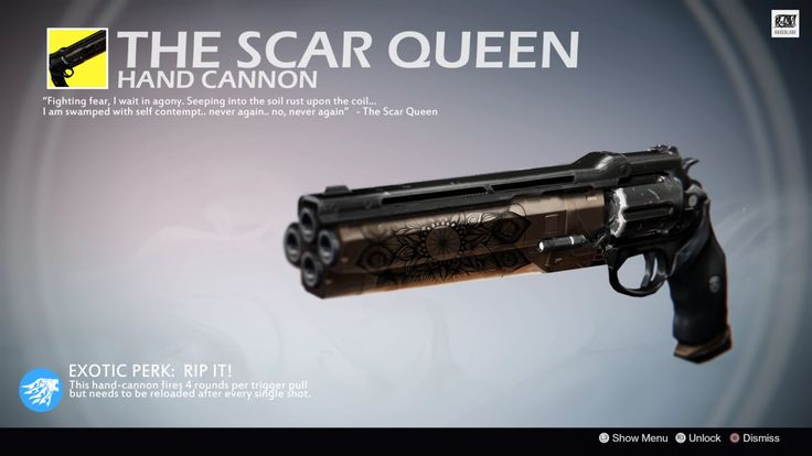 The Scar Queen (Exotic Hand Cannon Concept) by Rageblade66